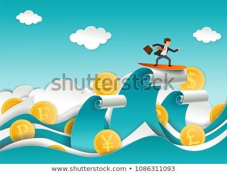 男 サーフィン 現金 お金 波 幸せ ストックフォト © blamb