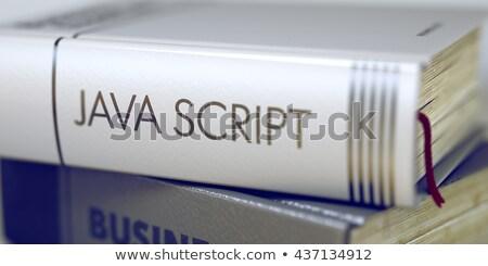 Java komut iş kitap başlık Stok fotoğraf © tashatuvango