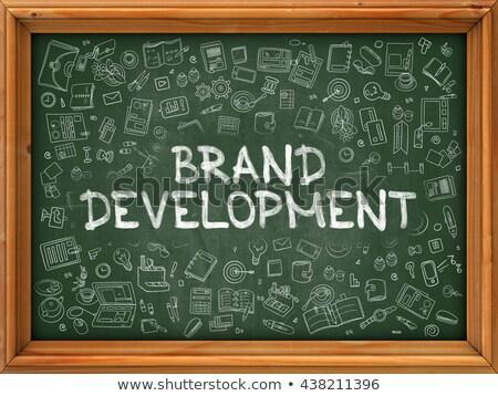 ブランド 開発 手描き 緑 黒板 いたずら書き ストックフォト © tashatuvango