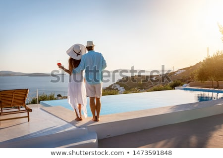 couple by pool Stock photo © IS2