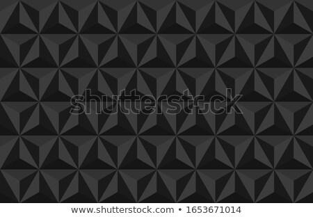 Triangular Tiles 3D Pattern Banner Stock photo © make