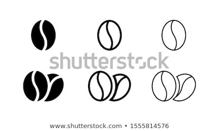 コーヒー豆 ベクトル 孤立した 白 黒 eps ストックフォト © NikoDzhi