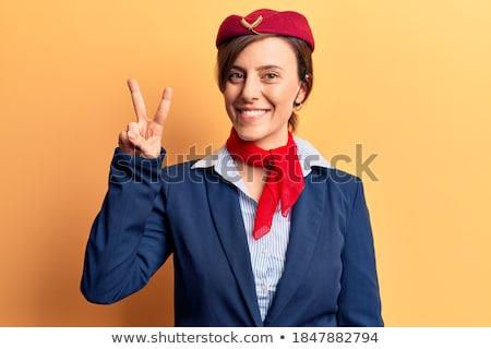 Deux heureux Voyage avion travail champagne Photo stock © arturkurjan