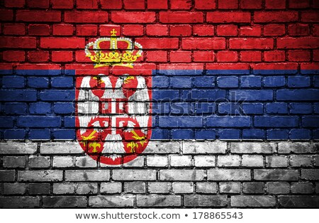 Square grunge flag of serbia Stock photo © MikhailMishchenko