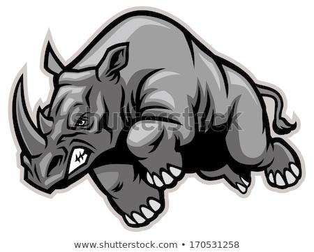 Rhino Angry Sports Mascot Stock photo © Krisdog