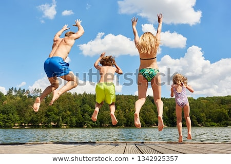 Stock photo: Summer holiday by the lake