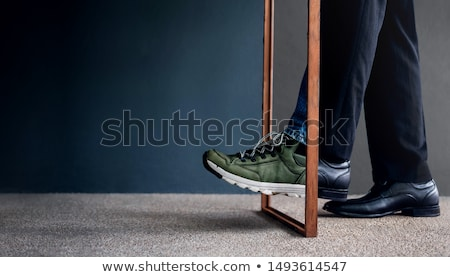 portret · młodych · boso · człowiek - zdjęcia stock © is2