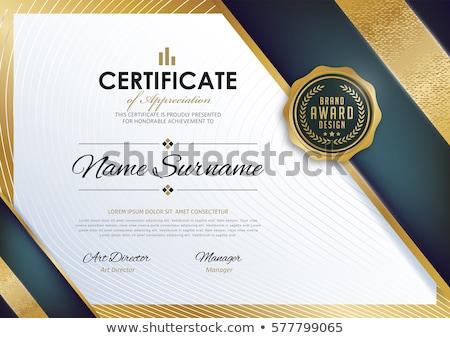 luxe · certificaat · waardering · sjabloon · ontwerp · achtergrond - stockfoto © sarts