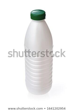 Plástico garrafa verde parafuso boné Foto stock © Makstorm