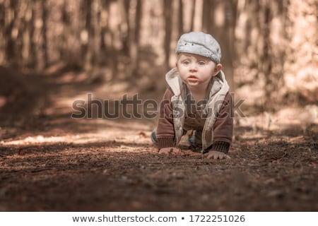 Erkek orman özgürlük gençlik erkek kova Stok fotoğraf © IS2