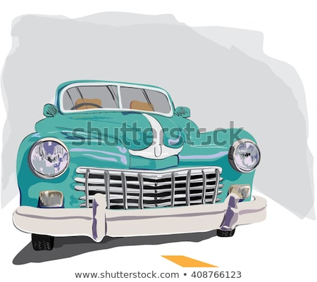 Retro limousine cabriolet car, vintage collection Stock photo © sidmay