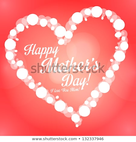 Happy Valentines Day Illustration with Love Letter and Red Hearth on Shiny Background. Vector Weddin Stock photo © articular