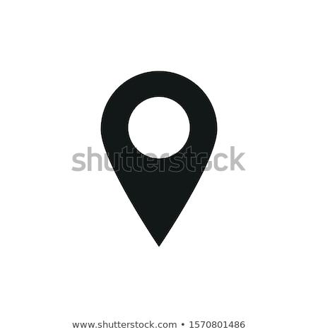 Pin punkt lokalizacja wektora ikona projektu Zdjęcia stock © rizwanali3d