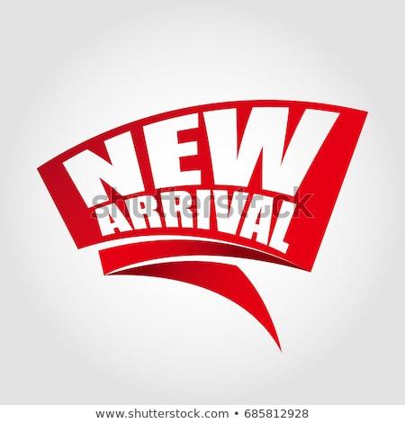 Nieuwe aankomst vector icon knop ontwerp Stockfoto © rizwanali3d