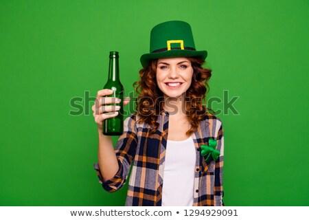 Promo girl offers alcoholic drink in the bar Stock photo © alexanderandariadna