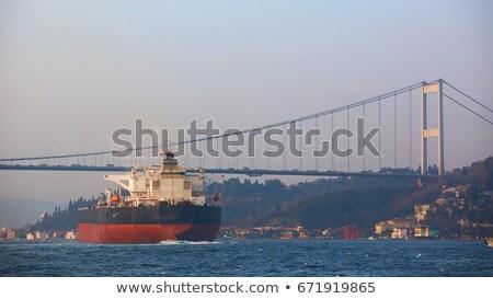Стамбуле закат Турция морем промышленности Восход Сток-фото © Givaga