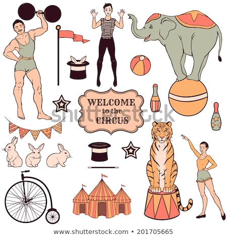 Set of various circus performers Stock photo © bluering