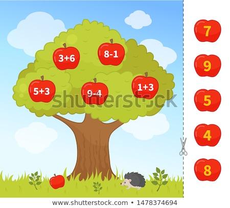 Matemáticas educativo juego ninos Cartoon Foto stock © izakowski