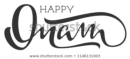 Happy onam indian religious holiday hand written calligraphy text Stock photo © orensila