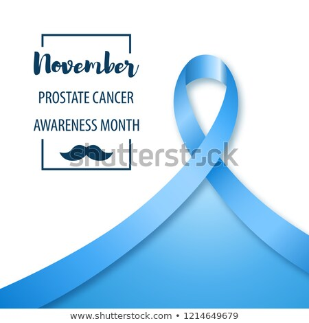 Minimalistic poster or banner of prostate health awareness month Stock photo © ussr