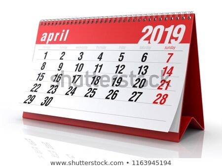 2019 year. Calendar for April. Isolated 3D illustration Stock photo © ISerg