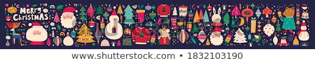 Stok fotoğraf: Collection Of Christmas Symbols