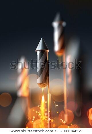 Firework Rocket Close Up Launching Stock photo © solarseven