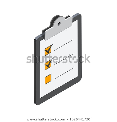 Checklist on clipboard isometric flat vector concept. Stock photo © TarikVision