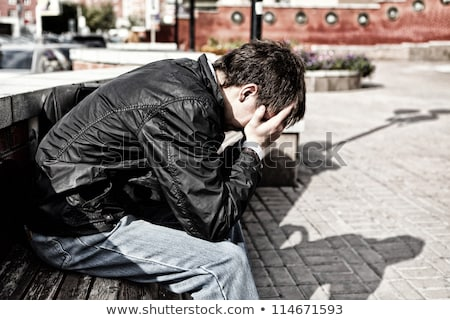 Urban trouble teenager in town Stock photo © bluering