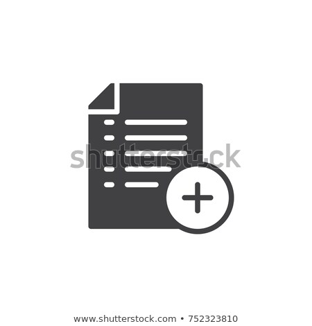 Add document icon , filled flat sign, solid pictogram isolated on white. Document with plus symbol,  stock photo © kyryloff