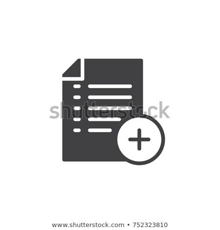 irat · ikon · felirat · szilárd · piktogram · izolált - stock fotó © kyryloff