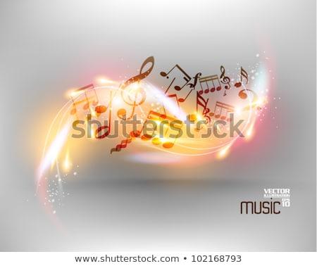 Foto stock: Frontera · plantilla · notas · musicales · ilustración · fondo · arte