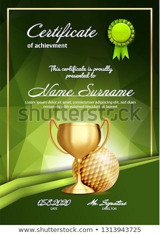 świadectwa szablon golf nagrody ilustracja sportu Zdjęcia stock © colematt