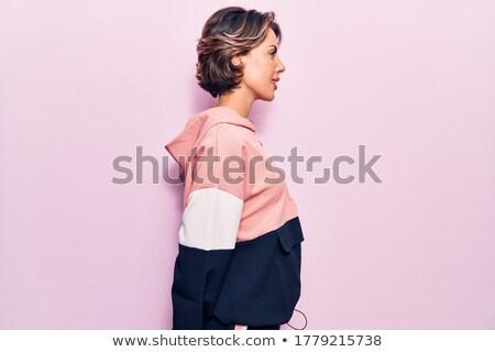 Short hair women Sportswear_relax Stock photo © toyotoyo