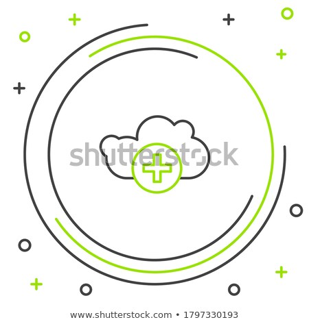 Add data cloud icon, plus sign. vector illustration isolated on white background. Stock photo © kyryloff