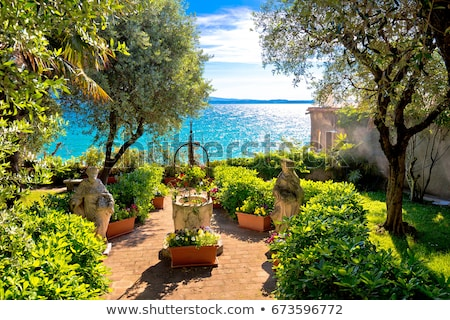 Lago di Garda town of Sirmione view Stock photo © xbrchx
