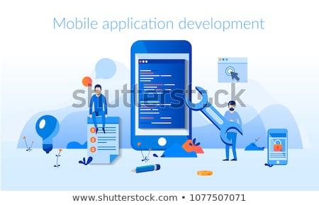 Mobile app development vector illustration Stock photo © RAStudio