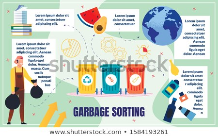 Paper Waste Poster with Info Vector Illustration Stock photo © robuart