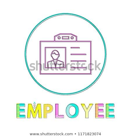Employé nom badge cercle icône vecteur Photo stock © robuart