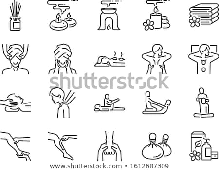 Massage Relieving from Back Pain Icons Set Vector Stock photo © robuart