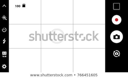 Smartphone camera sjabloon zwarte telefoon Stockfoto © romvo
