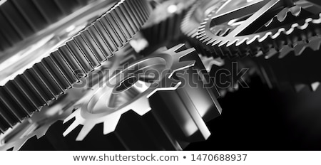 the mechanism gear 3d stock photo © m_pavlov