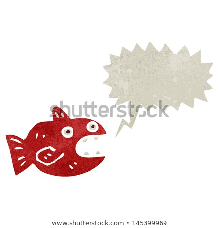 Falante desenho animado piranha ilustração feliz Foto stock © cthoman
