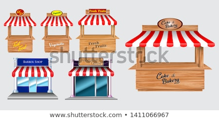 Izolált fából készült pékség üzlet fa háttér Stock fotó © bluering