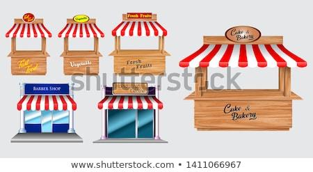 Isolé bois boulangerie affaires bois fond Photo stock © bluering