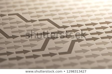Objetivo ilustração 3d muitos maneira papel Foto stock © olivier_le_moal