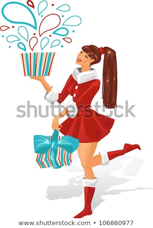Noel · hediyeler · imzalamak · hediyeler · bo · ahşap - stok fotoğraf © robuart