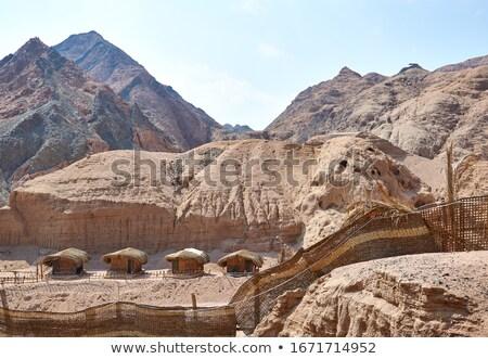 Chata Egipt krajobraz pustyni górskich Zdjęcia stock © Givaga