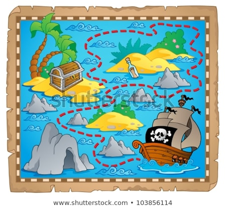 Image with pirate vessel theme 3 Stock photo © clairev