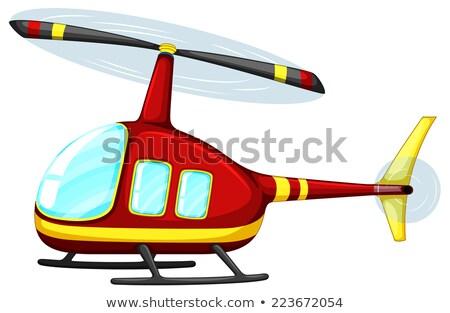 Cartoon hélicoptère blanche illustration design art Photo stock © bluering